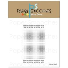 RESERVE Paper Smooches CROSS STITCH Wise Dies A1D376
