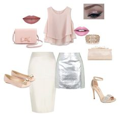 """""""Pink glam outfit day to night"""" by mymyhearts on Polyvore featuring River Island, Monsoon, Chicwish, Ted Baker, Oasis, Fiebiger, Judith Leiber, Topshop and Lauren Lorraine"""