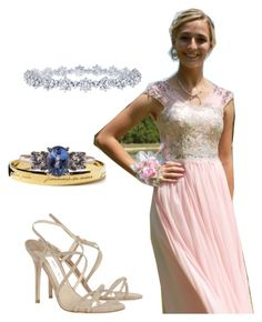 """Pink"" by coniefoxdress ❤ liked on Polyvore featuring Harry Winston, Jimmy Choo, Kate Spade, PromDress and longgowns"
