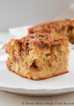 Apple Coffee Cake With Cinnamon Brown Sugar Crumb | Serena Bakes Simply From Scratch