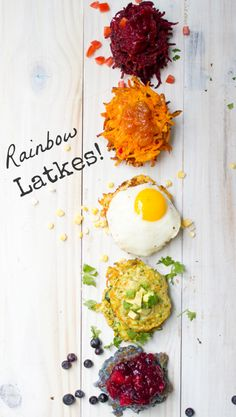 Rainbow Latkes for Hanukkah!