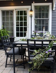 Gathering outside with friends and family on a Midwest summer evening is one of the season's many pleasures. See our story for tips on how to set the scene for enchanting patio entertaining. Backyard Paradise, Backyard Retreat, Backyard Patio, Backyard Landscaping, Outdoor Rooms, Outdoor Living, Outdoor Decor, Outdoor Ideas, Exterior Design