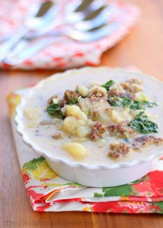 Zuppa Toscana Soup - a hearty copycat version of the Olive Garden soup.