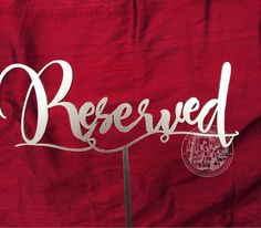 10++Laser+Cut++Reserved+Table+Signs.+Gold+by+TheVirginiaArtisans