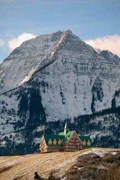 Historic Prince of Wales Hotel, Waterton Lakes National Park, Alberta, Canada