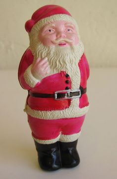 Vintage 40s 50s Celluloid Figural Santa Claus Christmas Display Figure