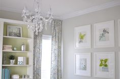 House Tour  | Not so Newlywed McGees.  Wall color:  Sherwin Williams -- Sedate Gray. #6169