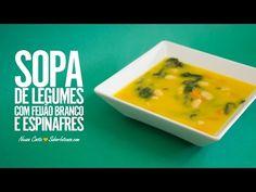 Sopa de Legumes com Feijão Branco e Espinafres | SaborIntenso.com