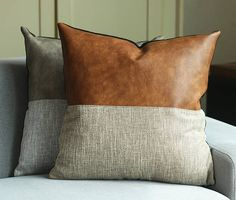 Designer Faux Leather Pillow Cover Kdays Halftan Pillow Cover Decorative For Couch Throw Pillow Case Handmade Cushion Covers Brown Cushion Throw Pillow Case Handmade Decorative Pillows Custom Size D E S C R I P T I O N ★ Package Content: 1 Pillow Case This listing DOES NOT INCLUDE