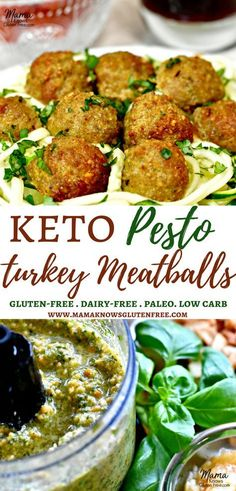 Keto Pesto Turkey Meatballs