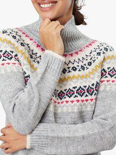 Joules Kirstie Chunky Chunky Knit Fairisle Jumper, Grey – Knitting patterns, knitting designs, knitting for beginners. Knitting Designs, Knitting Patterns, Jumper, Men Sweater, Outdoor Wear, Joules, Knitting For Beginners, Stay Warm, Knitwear