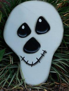 Halloween Skull Yard Art Exterior Wood Happy Fall by samthecrafter, $30.00