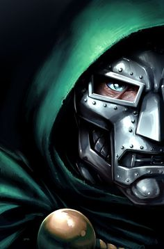 Dr. Doom - genius mastermind who rules Latveria and plagues the Fantastic Four and world. With his technology and power armor of his genius, Doctor Victor Von Doom is able to single handedly defeat the Avengers making him the most powerful human in Marvel Comics.