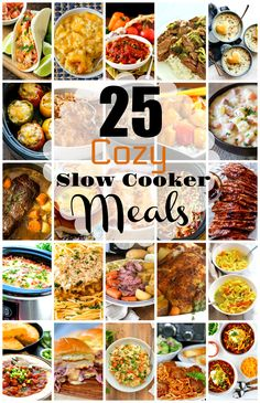 Get creative with your slow cooker this Fall and use it to your advantage on busy days to make 25 Cozy Fall Meals You Can Make In A Slow Cooker. Fall Crockpot Recipes, Crockpot Dishes, Slow Cooker Recipes, Fall Recipes, Cooking Recipes, Crockpot Meals, Crockpot Potroast, Roast Recipes, Freezer Meals