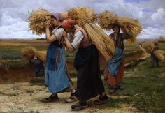 Julien Dupre, French, 1851-1910. The Gleaners (1880). Private Collection. Dupre is one of many artists that should be better remembered.
