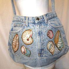Zena Jean Purse Handbag Cross Body Sea Shells Beach Homemade #Zena #MessengerCrossBody