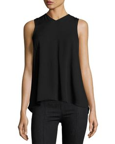 Knot-Back+Sleeveless+Top,+Black+by+Helmut+Lang+at+Neiman+Marcus.