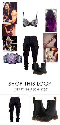 """""""WWE"""" by wwediva3456 ❤ liked on Polyvore featuring Julius and Dr. Martens"""