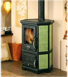 Nice Green Burning Wood Stoves Ideas by Sideros