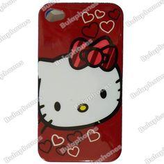 Funda Cubierta Protector Posterior Hard Case Back Iphone 4 4s Hello Kitty Rojo en Accesorios para Celulares Apple Reynosa