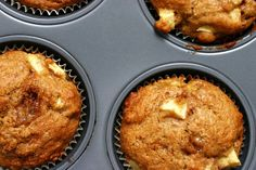 Whole Wheat Apple muffins by smitten, via Flickr