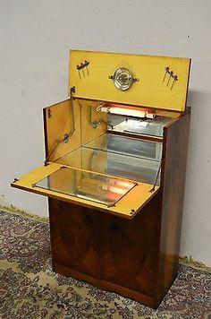 Art Deco 1920 Inlaid Drinks Bar Liquor Cocktail Cabinet | eBay