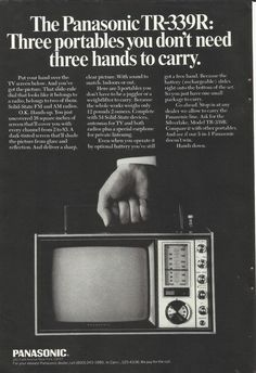 Vintage Panasonic TV ad