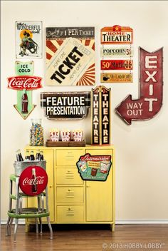 Roll out the red carpet! Vintage decor takes center stage in this movie-themed room.