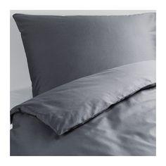 IKEA - GÄSPA, Bettwäscheset, 2-teilig, 140x200/80x80 cm, , Die Satinwebart verleiht der Baumwolle seidigen Glanz und hohe Schmiegsamkeit.Kammgarnbaumwolle sorgt für weiche, hautsympathische Bettwäsche mit besonders gleichmäßigem, glattem Gewebebild.Verdeckte Druckknöpfe am Bezug verhindern, dass die Decke herausrutscht.