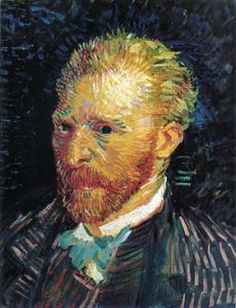 Vincent van Gogh, Self-Portrait 1887. Musee d'Orsay, Paris. On special exhibition in Ft Worth Tx, Kimbell Museum. Just saw today, to be able to see his fantastic brushwork was a real treat! Almost life size, the prickly strokes jump off the canvas with the assured ferocity of color, breathtaking!!!!