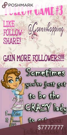 FOLLOW GAME PART 3!!! Let's keep growing together! This is part 3 of the following game!  Like this listing, follow everyone who's liked this listing including me, share, share, share. Come back often and repeat. Let's help each other grow!!! Free People Other