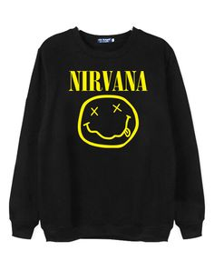 Sweatshirt with NIRVANA Print