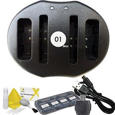 DOT01 Brand Canon Ixus 240 HS Dual Slot USB Charger for Canon Ixus 240 HS Camera and Canon Ixus 240 HS Accessory Bundle for Canon NB11L NB11L * For more information, visit image link.