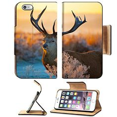 MSD Premium Apple iPhone 6 Plus iPhone 6S Plus Flip Pu Leather Wallet Case iPhone6 Plua IMAGE ID 36207061 red deer image *** Continue to the product at the image link.