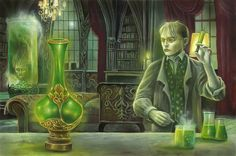"""""""Herbert West and the Reanimator Serum"""" from Cthulhu: The Great Old One Card Game by Dann Kriss Games, artwork by Ian Daniels © 2013 - on Kickstarter now!"""