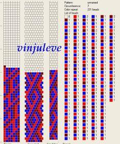 Bead crochet pattern, 7 round