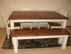Appleberry's Attic Custom, Handbuilt, Farm House Table and Bench!