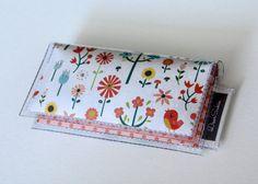 Mini Card Holder - Merry Meadow, Dear Sukie, mini card, moo card, bird wallet, small wallet, snap, vinyl, paper, cute wallet, pink