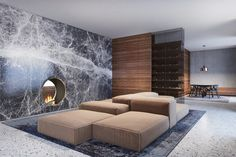 The Vienna Based Architectural Firm Destilat Designed a Modern House in Krems an der Donau, a Town in Austria Design Hotel, Design Studio, House Design, Living Room Lounge, Living Area, Living Spaces, Living Rooms, World Of Interiors, Modern Interiors