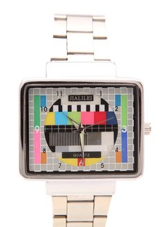 Loot Watch - Retro TV test pattern watch