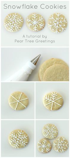 Learn how to make a these snowflake Christmas cookies that are sure to impress your family! www.peartreegreet...