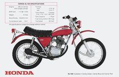 1970 Honda SL100 Vintage Motorcycle Poster 24x36 | eBay
