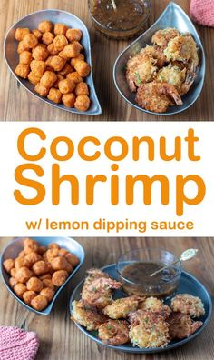 This tropical Coconut Shrimp has a bit of twist with lemon marmalade dipping sauce! So easy and delicious for an appetizer or for dinner! Fun Easy Recipes, Easy Appetizer Recipes, Delicious Dinner Recipes, Fish Recipes, Seafood Recipes, Easy Meals, Cooking Recipes, Seafood Mac And Cheese, Seafood Dishes