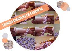 Patrones Crochet: Punto circulos en cadeneta tutorial