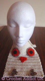 #Owl #Baby #Bib ~ #Free #Crochet Pattern ~ Crochet Addict UK http://www.crochetaddictuk.com/2013/12/owl-baby-bib-free-crochet-pattern.html