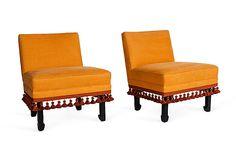 One Kings Lane - Kelly Wearstler: Domicilium Decoratus - Orange Side Chairs, Pair