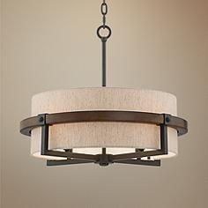 "Castille 22"" Wide Bronze Pendant Light $250"