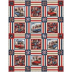 Studio E American Muscle Chelsea Design Works American Muscle Quilt Kit | Quilt Kit Hancocks Of Paducah, Quilt Kits, Quilt Top, Quilt Patterns, It Works, Chelsea, Muscle, Quilts, Studio