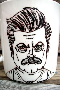 "SALE ""You had me at ""Meat Tornado"" Ron Swanson Manly Man Tribute Coffee Mug / Manly by betwixxt, $16.00"