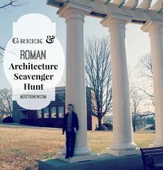 Field trip ideas for Greek and Roman Architecture.Scavenger Hunt for Greek & Roman Architecture! #homeschool #fieldtrip